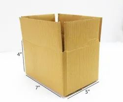 7x5x4 Inch Brown Packaging Corrugated 3 Ply Box