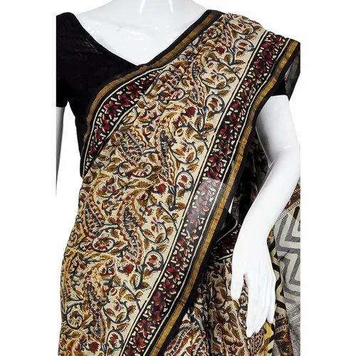 Maker's Best Bhagalpuri Kalamkari Linen Saree