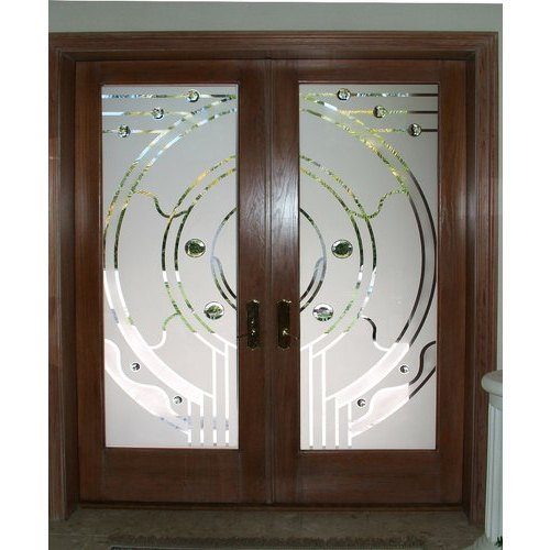 Frosted Door Glass, Thickness: 10-15 Mm