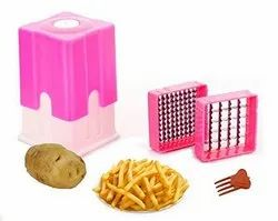 Potato Finger Chips Cutter Or French Fry Cutter (Multicolor)