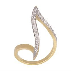 American Diamond Gold Plated Ring For Women And Girls