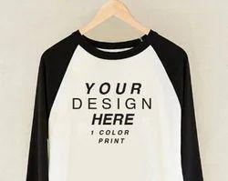 Multicolor KD Custom Printed T-shirt, Polyester T-shirt