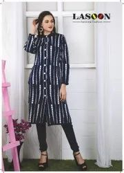 Blue Ladies Woolen Kurtis
