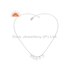 Coin Designer 925 Silver Necklace Fashion Jewelry Supplier