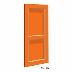 Orange Solid Panel PVC Door