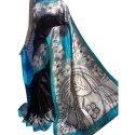 Party Wear Silk Pure Murshidabad Hand Printed Saree