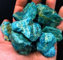 Blue Apatite Gemstone Rough Raw Materials Loose Gemstone