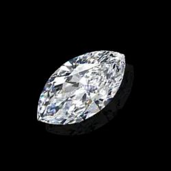 Near White Marquise Cut Moissanite Stone