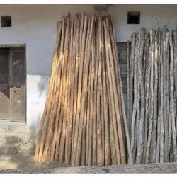 Wooden Pole, Thickness: 4-5 Inch