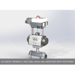 Actuator Operated 2 Piece Ball Valve SMS Union End with Positioner
