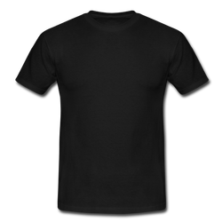 Cotton Round Mens Black Half Sleev Plain T-Shirt