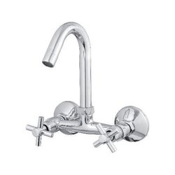 Cross Series Pillar Cock Center Hole Basin Mixer