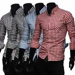 Multicolor Mens Casual Shirts