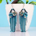 Jewels Blue Silver Plated Drop Earrings