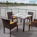 Gebe Outdoor Dining Set, Seating Capacity: 4 Chairs + 1 Table