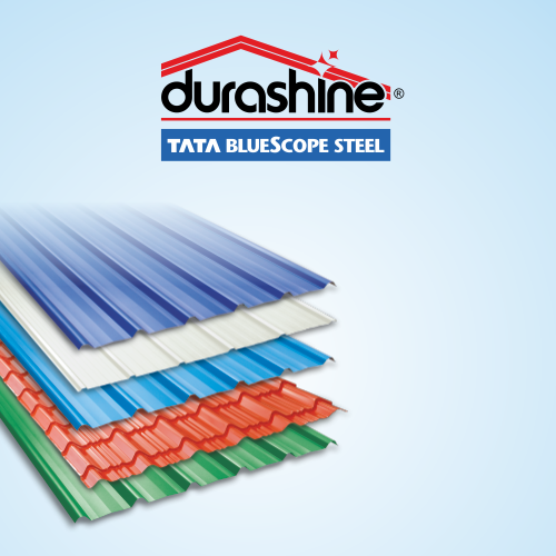 Durashine Colour Coated Roofing Sheet Rs 401 Square