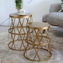 Iron Side Tables Set Of 2