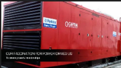 New Red Perkins Diesel Generators, Janhavi Power Projects