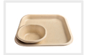 Brown RDV Eco Friendly Disposable Plates, Paper Gsm: 400