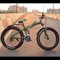 LAND ROVER Green Fat Tyre Foldable Cycle