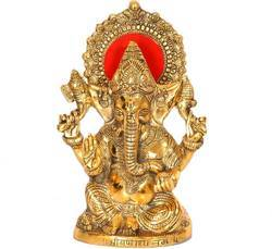 Gold Plated Ganesha Idol