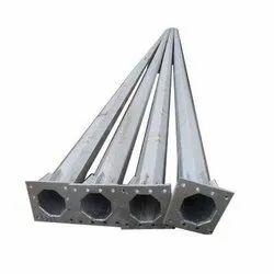 3-12 Mtr SS HDGI Octagonal Lighting Pole, For Highway