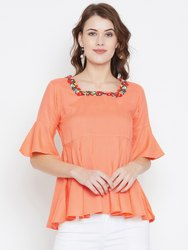 Ladies Square Neck Rayon Top