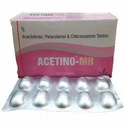Acelofenac 100mg,Paracetamol 325mg,Chlorzoxazone 250mg