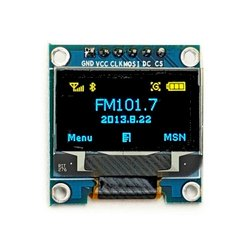 0.96 Inch 6pin 128X64 Blue Yellow OLED Display Module