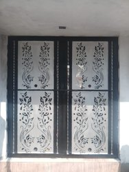 Aluminium Rectangle Grill Door Work