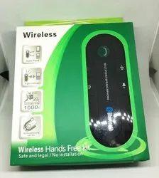 Black Plastic Wireless Hands Free Car Kit