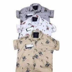 Mens Casual Printed Cotton Shirt