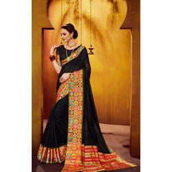 Cotton Silk Black Saree
