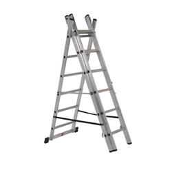 Ss Matt/mirror Stainless Steel Foldable Ladder