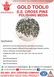 Jewellery Polishing Media Cross Pin
