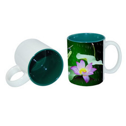 Printed Coffee Green Color Mug