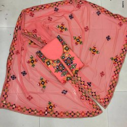 Chanderi Ari Work Suit