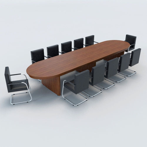 Wooden Oval Shape Conference Table Rs Piece Chairs Pluss - Oval shaped conference table