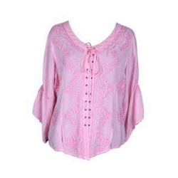 Cotton Casual Ladies Fancy Top