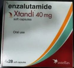 Allopathic Finished Product Xtandi 40mg Capsules, for Postrat Cancer, Packaging Type: Strips