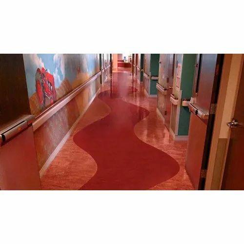 Red Vinyl Flooring Thickness 2 3 Mm