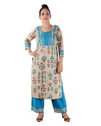 Stitched Cotton Women Multi Printed Ladies Suits, Wash Care: Machine Wash