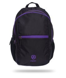 Black And Purple Laptop Backpack