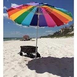 Multicolor Printed Beach Umbrellas