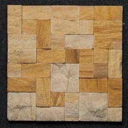 Teak Random Pattern Mosaic