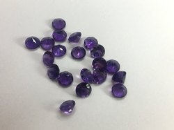 Natural African Amethyst Faceted Round Loose Gemstone