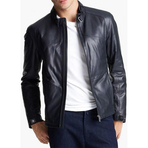 Mens Leather Jackets 3 Mens Formal Black Leather Jacket With Front