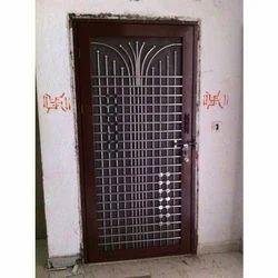 Brown Standard Aluminium Door With Wooden Frame Door