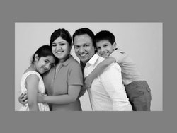 Family Portraits Photography in Black And White