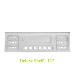 JACA Transparent Deluxe Bathroom Wall Shelf, Packaging Type: Box, Size: 16 Inch